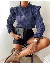 Дамска блуза в тъмно синьо - код 5455
