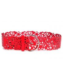 Дамски колан в червено - код P95
