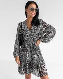 Дамска плисирана рокля - код 8497 - 1