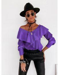 Дамска блуза в лилаво - код 6030
