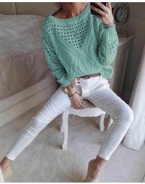 Дамска блуза в цвят мента - код 6182