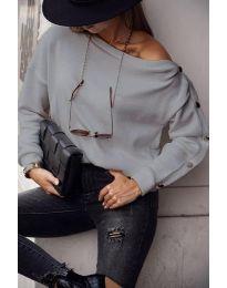Дамска блуза в сиво - код 4640