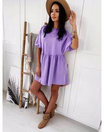 Елегантна къса рокля в лилаво - код 789