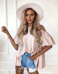 Атрактивна дамска блуза в светлорозово - код 0157