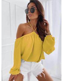 Дамска блуза в жълто - код 6561