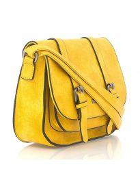 Дамска чанта в жълто - код 91866