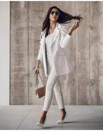 Дамско сако в бяло - код 5212