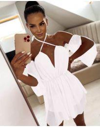 Атрактивна дамска рокля в бяло - код 8898