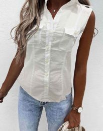 Лятна дамска риза в бяло - код 0158