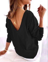 Свободна дамска блуза в черно - код 5173