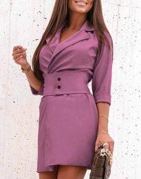 Дамска рокля в лилаво - код 1356