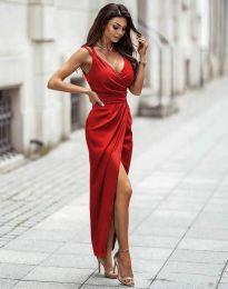Стилна дамска рокля в червено - код 6135