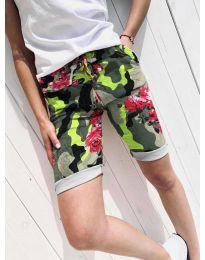 Къси панталонки с ефектен десен  - код 5077-1