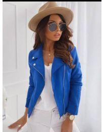 Дамско тънко яке в синьо - код 562