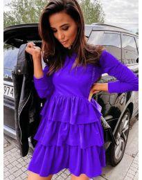 Свободна дамска рокля в лилаво - код 3109