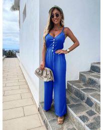 Стилен дамски гащеризон в синьо - код 6644
