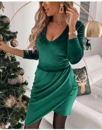 Екстравагантна рокля в зелено - код 2129