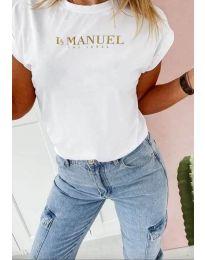 Дамска тениска в бяло - код 5590