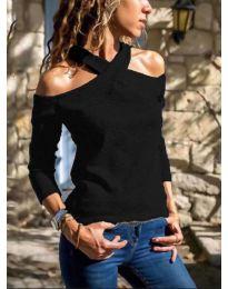 Дамска блуза в черно- код 4616
