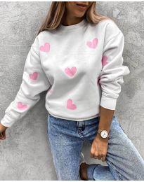 Дамска блуза с ефектен десен - код 3280 - 2