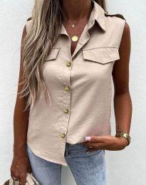 Дамска лятна риза в бежово -  6598
