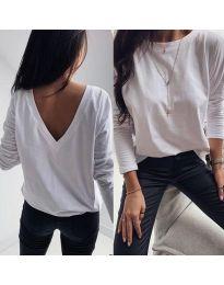 Дамска блуза в бяло - код 3330