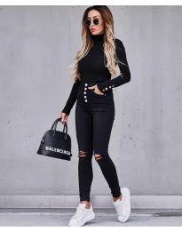 Дамска блуза в черно - код 7971