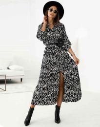 Дамска рокля с атрактивен десен - код 3853 - 2