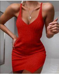 Плетена рокля в червено - код 1444