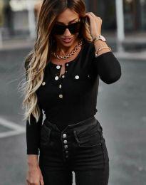 Ефектна дамска блуза в черно - код 11516