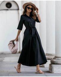 Изчистена рокля в черно - код 0900