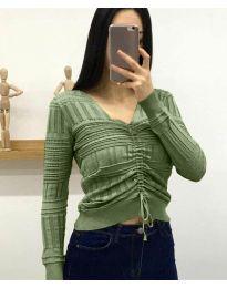 Дамска блуза в зелено - код 385