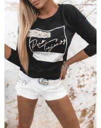 Дамска блуза в черно - код 4223