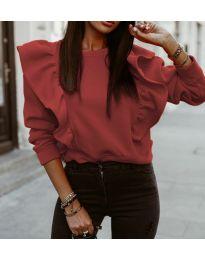 Дамска блуза в бордо - код 3890