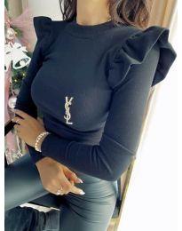 Изчистена дамска блуза в черно - код 0142