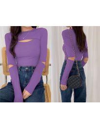 Дамска блуза в лилаво - код 0566