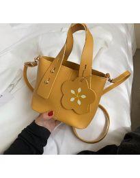 Дамска чанта в цвят горчица - код B502