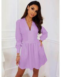 Кокетна рокля в светло лилаво - код 089