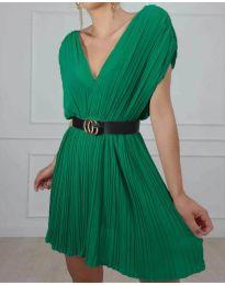 Изчистена рокля в цвят зелено - код 5670