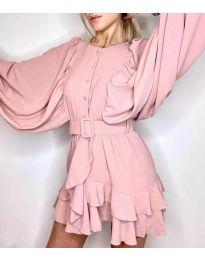 Свободна рокля в розово - код 6299