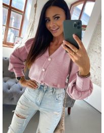 Дамска блуза в цвят пудра - код 241