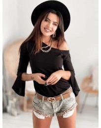 Дамска блуза в черно - код 8353
