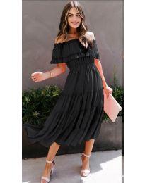 Феерична рокля в черно - код 699