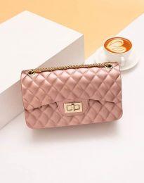 Дамска чанта в цвят пудра - код B341