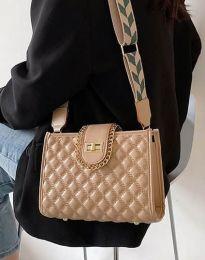 Дамска чанта в цвят капучино - код B430