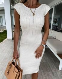 Елегантна дамска рокля в бяло - код 4513