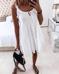 Дамска рокля в бяло - код 2540