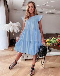 Свободна рокля в светлосиньо - код 2666
