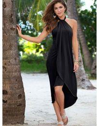 Атрактивна дамска рокля в черно - код 4293