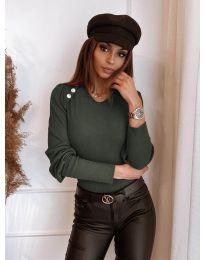 Дамска блуза в зелено - код 3111